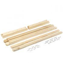 قاب چوبی بلند مونتاژ نشده هفت گوهر