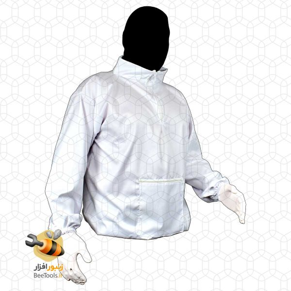 پیراهن زنبورداری نیم تنه جلو بسته